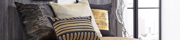 Modern Window Panels | Embroidered Throw Pillows | OnCloud9.com
